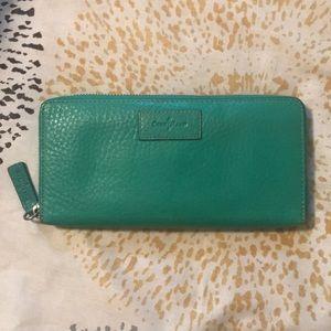 Cole Haan mint green wallet